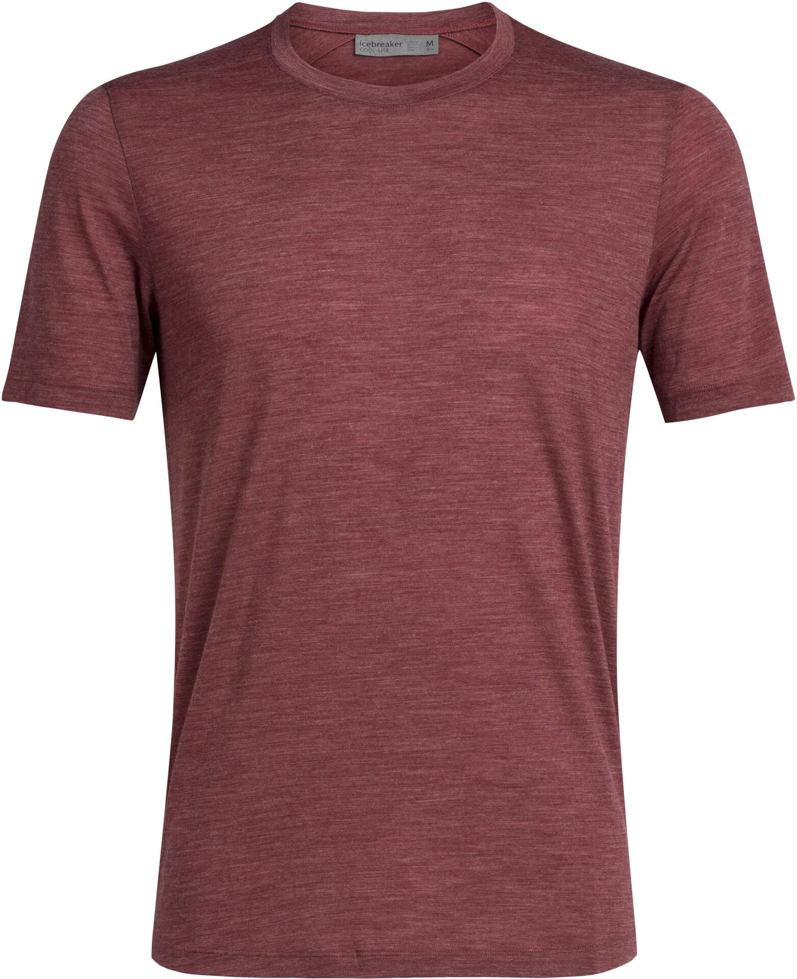 Icebreaker Sphere T shirt Herrer, cabernet heather